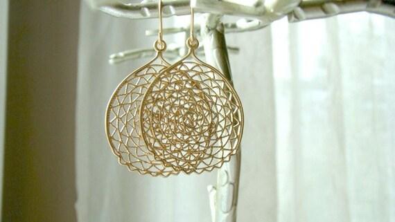 aztec sun earrings