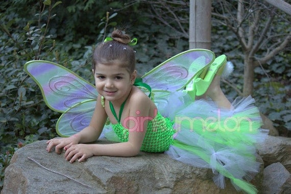 RESERVED Tinkerbell Couture Crochet Tutu Dress