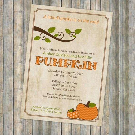 pumpkin baby shower invitations baby shower invitation with pumpkins