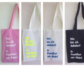 Baumwolltasche Jutetasche für Frankfurt Liebhaber