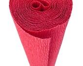 Italian Crepe Paper roll 180 gram  -  586 RED VELVET