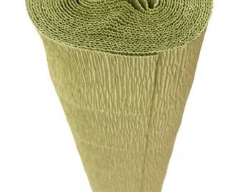 Italian Crepe Paper roll 180 gram  -  562 GREEN LEAF