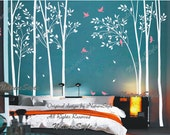 Wall Decal Trees decal children wall decal nursery wall sticker baby decal - Birds in the Forest