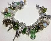 Slytherin Wizard Inspired Charm Bracelet