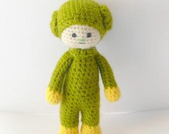Wool toy,Green Goblin  crochet amigurumi,plush doll, gift,  toy