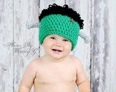 Frankenstein hat- halloween- made to order- newborn - adult