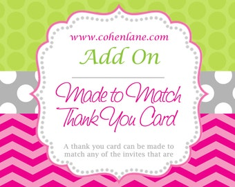 Thank You Card Add On