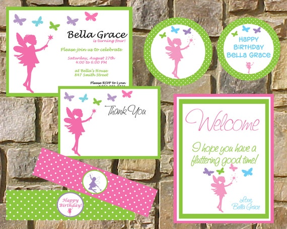 items similar to diy printable birthday party package. custom, Invitation templates
