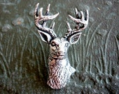 Deer Antiqued Pewter Pin