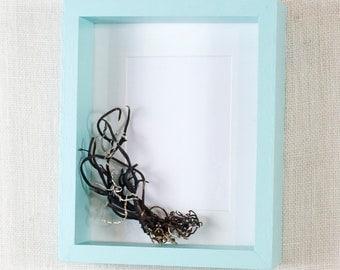 8x10 Deep Picture Frame - Light Aqua, Ocean Blue, Sky Blue - Deep Frame, Box Frame