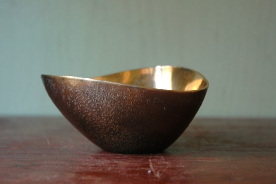 Ben Seibel For Jenfred Ware Brass Ashtray - Mid Century Modern Bowl For Jenfredware
