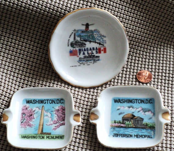 Collectible Ash Trays & Dish