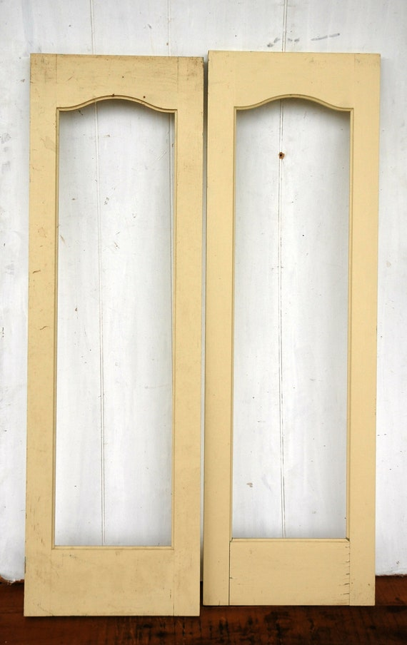 Vintage Wood Cabinet Door Fronts Painted