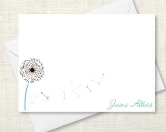 Stationary - dandelions - set of 10 notecards