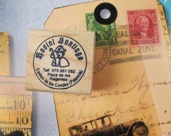 Santiago Pilgrim Rubber Stamp