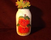 Country Pumpkin Jack-O-Lantern Candle Holder
