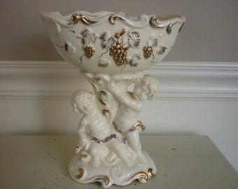 Vintage Cherub Compote