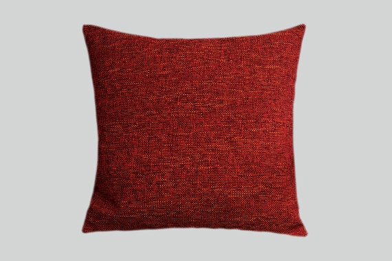 Red orange color decorative texture fabric throw pillow cover - Fabric for throw pillows ...