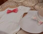 Handmade Newborn Baby Bib & Bodysuit Nautical Set