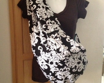 pet sling dog cat bunny carrier lined-for any small pet  DAMASK or pick fabric and size