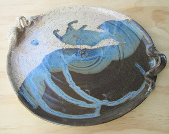 Round Speckle Stoneware Serving Platter - made to order