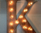 """Chistmas sale Wall Letter M light fixture 24""""  marquee"""