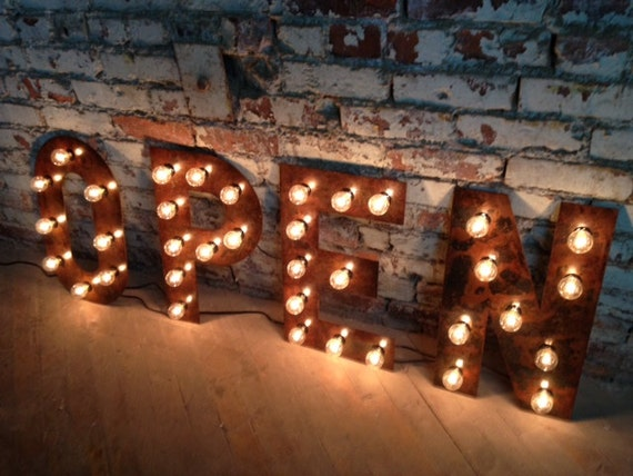 Metal Letters With Marquee Lights