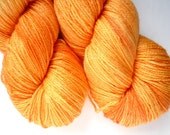 Merino Silk Sock Yarn - Hand Dyed 50/50 Merino Silk Fingering Weight in Marigold Colorway