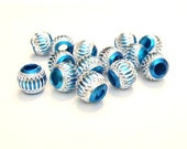 18 Electric Blue 10mm Beads