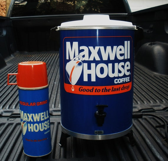 Vintage  Maxwell House Coffee Maker and Thermos  .. Good To The Last Drop