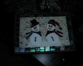 snow man decorative stepstool