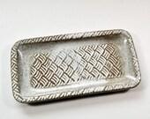 Stoneware Rectangular Plate Buttermilk Glaze