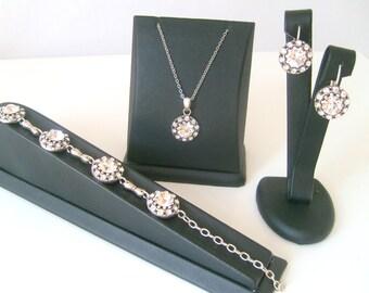 Vintage style art deco swarovski crystal rhinestone wedding jewelry set bridal jewelry bridesmaid gifts..