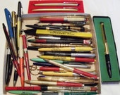 Vintage Ball Point Pen Lot of 50 plus 1950s 60s Instant Collection
