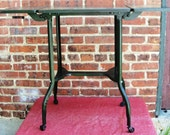 Vintage Metal Typewriter Stand Olive Green Mid Century Industrial