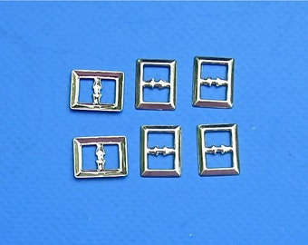 Mini Buckles, 6 dozen Gold & Silver