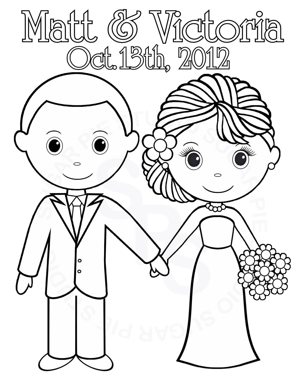 wedding coloring pages - photo #5