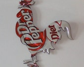 Rooster Magnet - Diet Dr. Pepper Soda Can (R)