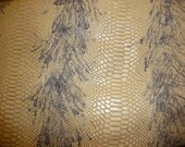 """Leather 12""""x12"""" GORGEOUS Wild Cobra Snake Cream Cowhide embossed Leather 1 sq ft Cream and Gray from PeggySueAlso"""
