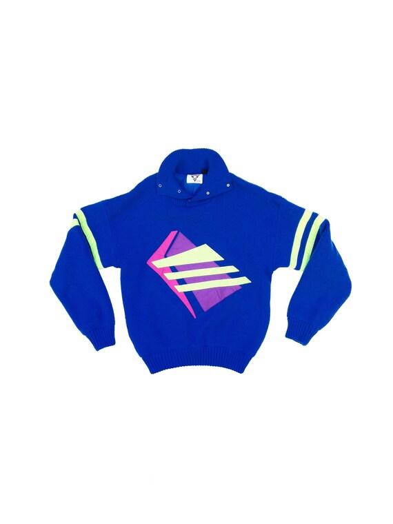 "80s / 90s Neon ""Tyrolia by HEAD"" Wool Sweater - Large"