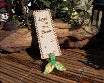 Green Mermaid BookMark- Legs in Your Book