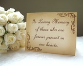 Vintage Inspired In Loving Memory Wedding Sign
