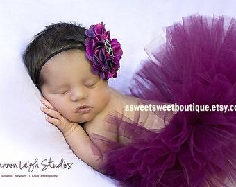Sweet Wine Tutu Baby Girl Tutu Purple Tutu Newborn Tutu Tutu And Headband Tutu Skirt Toddler Tutu Baby Girl Photo Prop Newborn Photo Prop