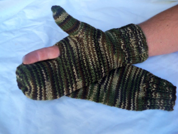 Bow Hunting Mittens - Camouflage