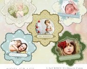 30% off Noel Grace- 5 pack 3x3 WHCC Ornate Snowflake Christmas Card Templates