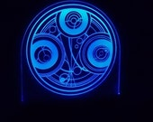 Symbol of Gallifrey's Time Lords- Doctor Who Edge lit Acrylic decor