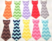 DIY Iron on Tie/Bowtie Applique // Choose ONE // Tone on Tone Chevron