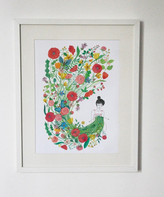 Knit me flowers  poster