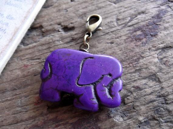 Elephant Charm, Purple