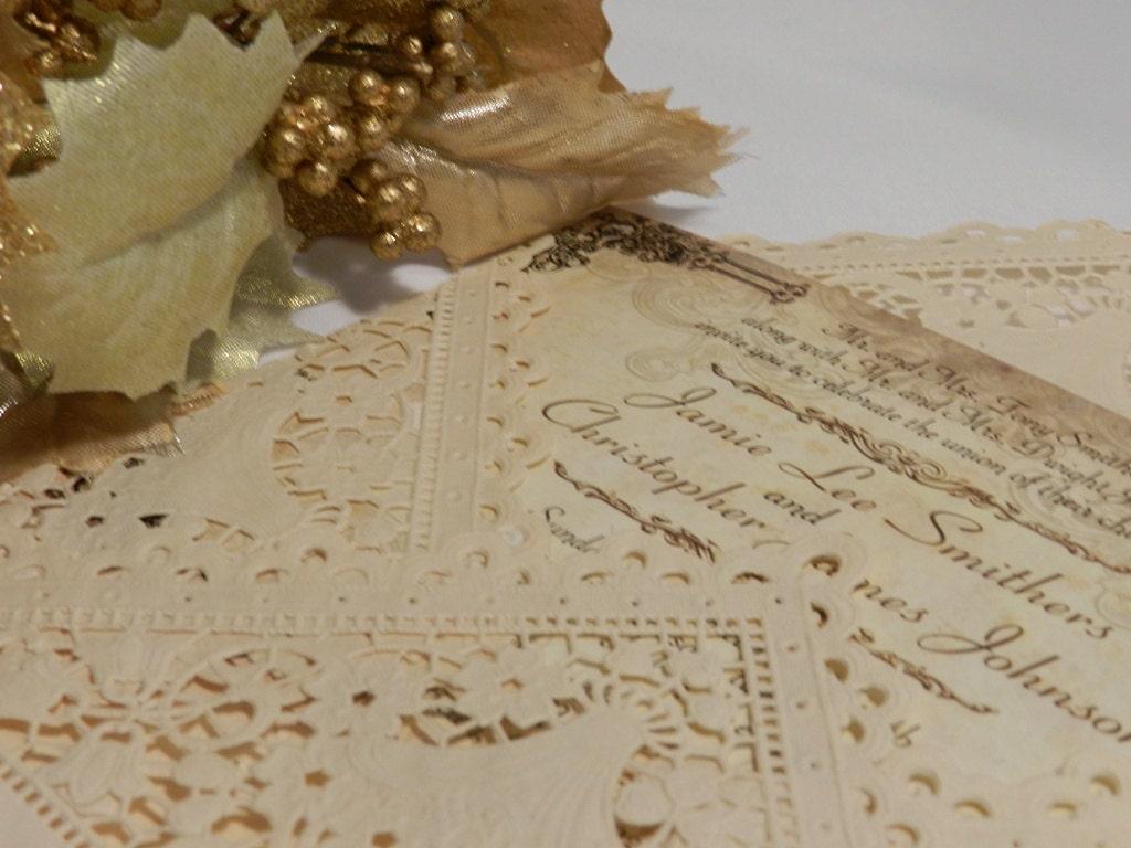 Diy Lace Wedding Invitations Viewing Gallery